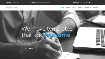 Awesome - Free Responsive HTML Template