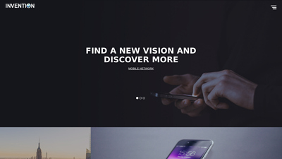 Invention - Free Responsive HTML Template