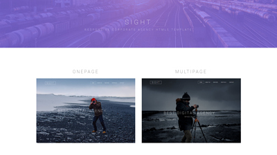 SIGHT - Free Responsive HTML Template